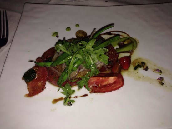Spago: Buffalo Caprese salad - vegan modified and exceptionally tasty.