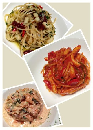 Vintage Lounge & Restaurant: assorted pasta dish's