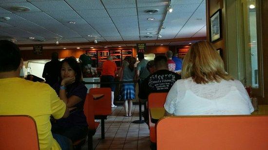 Pierce's Pitt Bar-B-Que: Pierce's counter After lunch.