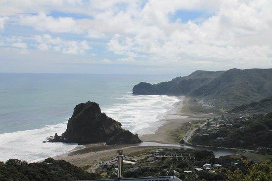 Piha Beach: top View
