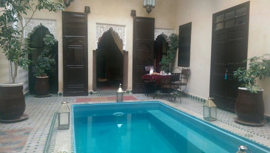 Riad la Croix Berbere: First floor court yard,pool not for swim but can soak your feet after a long day.