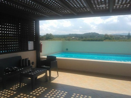 Asterion Hotel Suites and Spa : Panorama blue executive suite con private pool on the roof