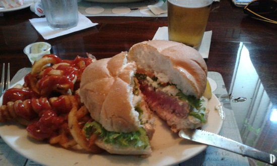 Coddington Brewing CO : Ahi Tuna Sandwich (would be better as a Wrap) and add some slaw.