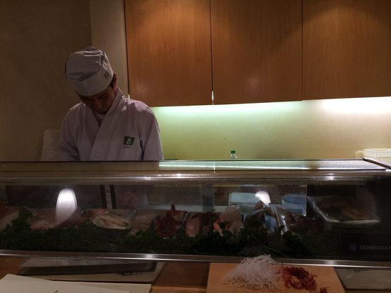Kiku : It is the third time I am here. But this time in the Sushi Bar. Fine selection of fish nicely pr