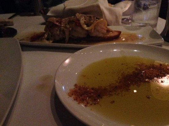 Red, the Steakhouse - South Beach: Garlic Shrimp & dipping oil