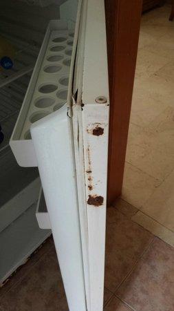 Las Torres Apartments : rusty fridge