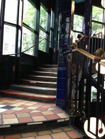 Kunst Haus Wien - Museum Hundertwasser: Stairwell.