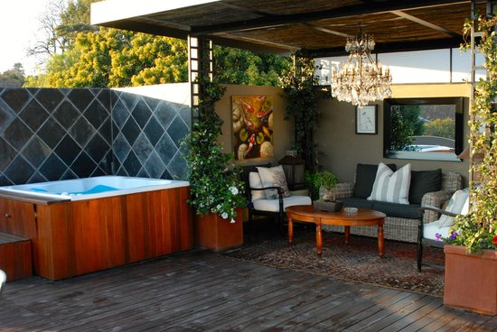 The Residence Boutique Hotel: The outdoor patio