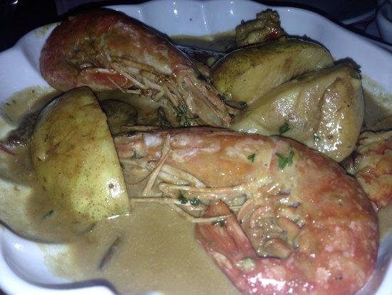 Restoran Porto: Shrimp and pear