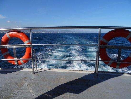 Las Golondrinas: Vue du bateau