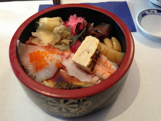 Samurai Sushi: sashimi rice bowl