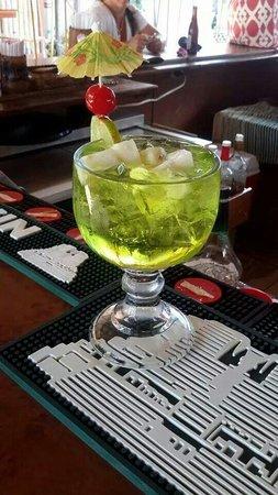 Bambooze: Melon liquor sangria
