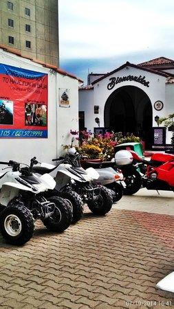 Baja Fun Adventures: Here we are outside the Rosarito Beach Hotel