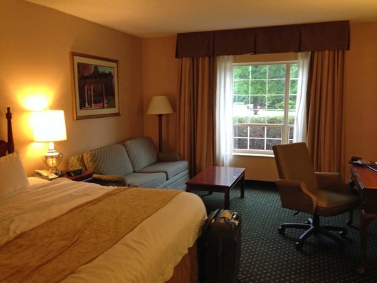 Ohio University Inn & Conference Center: King bed and nice desk chair