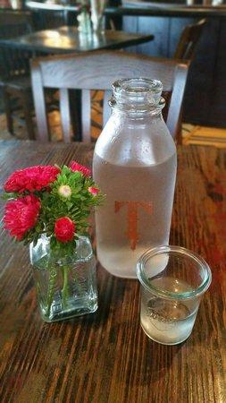 Beautiful table settings at The Tavern