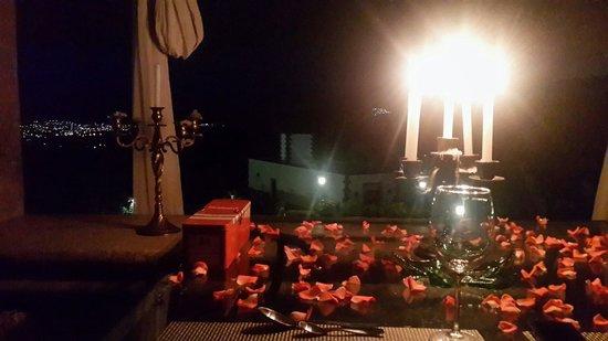 Casa Isabella Hotel Boutique: Cena romántica en uno de los espacios del hotel