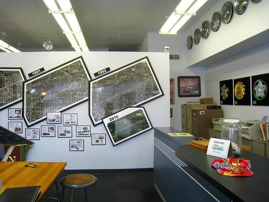 inside the Berwyn Route 66 Museum