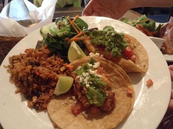 Escobar's Restaurant : cornmeal crusted Icelandic Cod Tacos