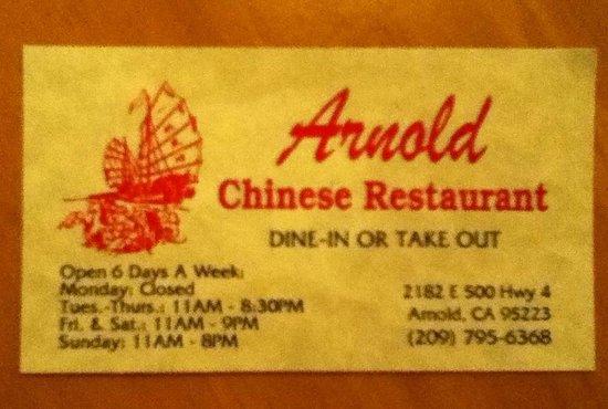 Arnold Chinese Restaurant