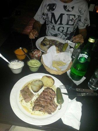 El Asadero : Arrachera. Flan steak