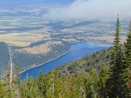 Wallowa Lake Resort: View from the tram