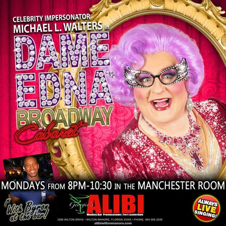 Wilton Manors, FL: Celebrity Impersonator Michael Walters as Dame Edna at the Alibi!