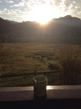Cedar Glen Farmstay: Morning coffee on the farm