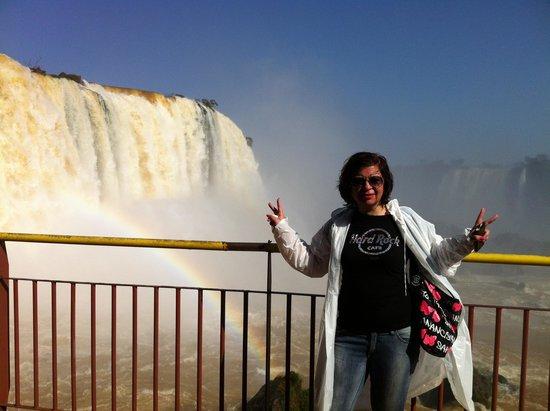 Iguazu Falls: anche l'arcobaleno ha fatto capolino