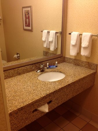 Fairfield Inn & Suites Chattanooga South/East Ridge : Panoramic view of King room with sofabed