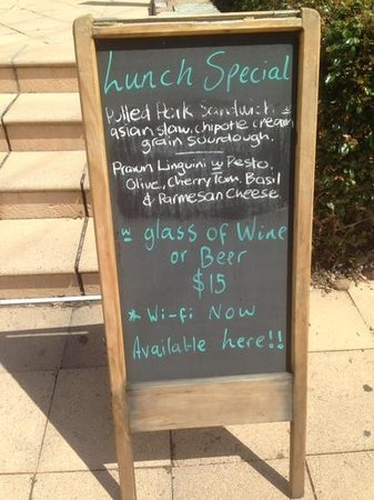 Vanilla Cafe Bar: Lunch special