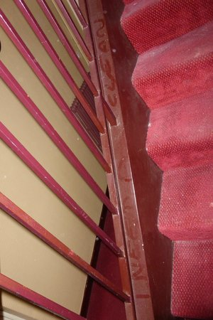 Hotel Saint-Michel: the staircase - and its dust