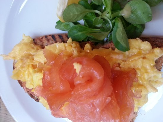 The Breakfast Club: Smoked Salmon and scrambled eggs