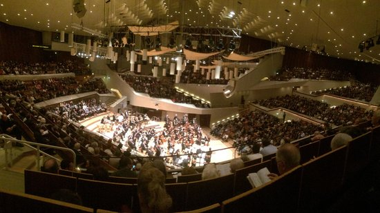 Berlin Philharmonic: A wonderful view, even from the side