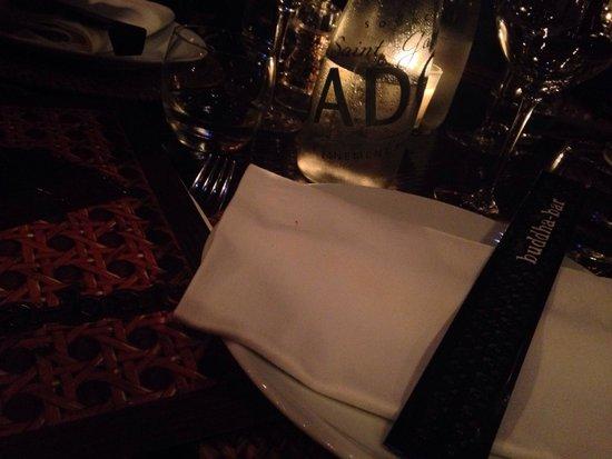 Buddha Bar: Tavola aspettando la cena