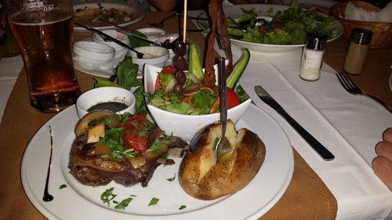 Karlina: Lamb klefleko with salad and jacket potato ( part of the 13.95 set menu )