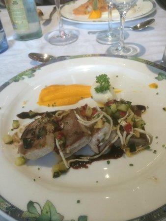 Flor Restaurante: thon à la plancha petites purées