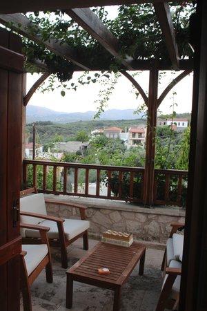 Spilia Village Hotel: evening on villa balcony