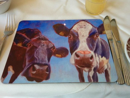 Newtown Farm Country House: Breakfast table mat spiritoso