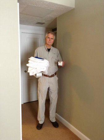 Tidewater Inn: My husband returning with the items room service forgot