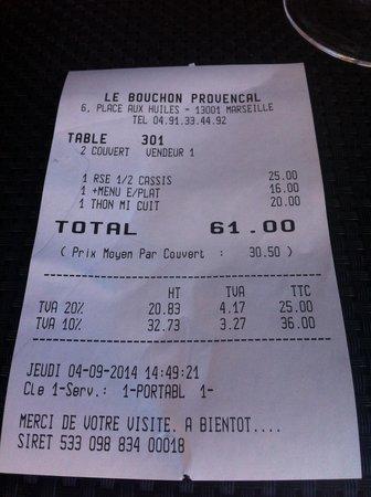 Le Bouchon Provencal : Excellent qualité , prix