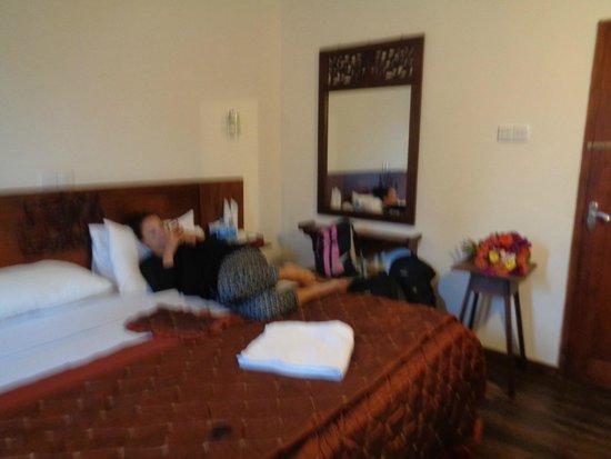 Pello Lake Resort: Our room (bit fuzzy)