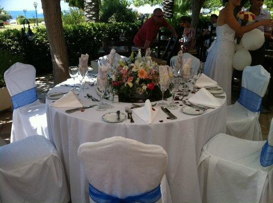 Elysium Hotel : wedding table decoration 2