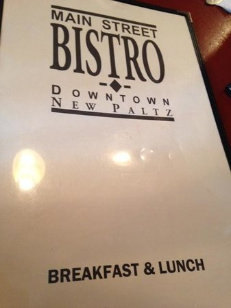 Main Street Bistro: Menu cover