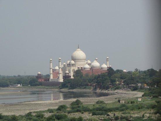 Sami World Travels: Taj Mahal view from the room of Shardaram, the king that bilt the Taj to his most beloved wife.