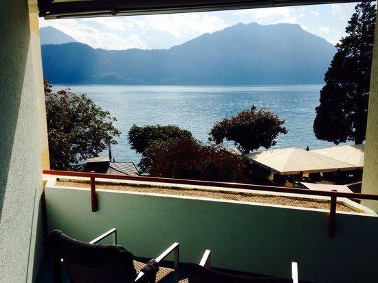 Post Hotel Weggis: View from balcony