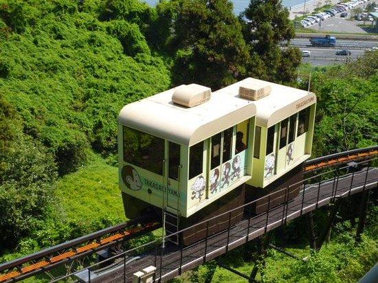 Takasakiyama Natural Zoo: 高崎山山頂まで行くゴンドラ