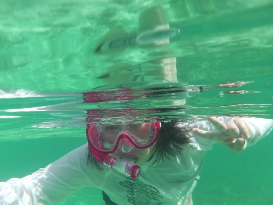 Cocos Island Resort: 海は奇麗です