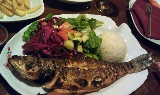 Aspendos Grill & Bar: Sea Bass - Served Whole - Grilled - nice!