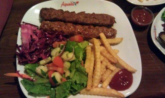 Aspendos Grill & Bar: Lamb Adana Kebab - at the servers recommendation - good stuff!