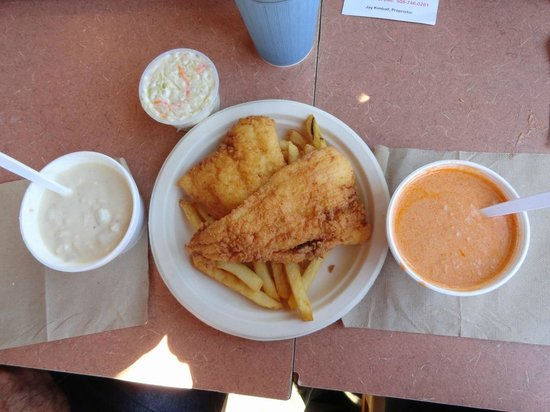 Wood's Seafood: Clam Chowder Fish/Chips Lobster Bisque